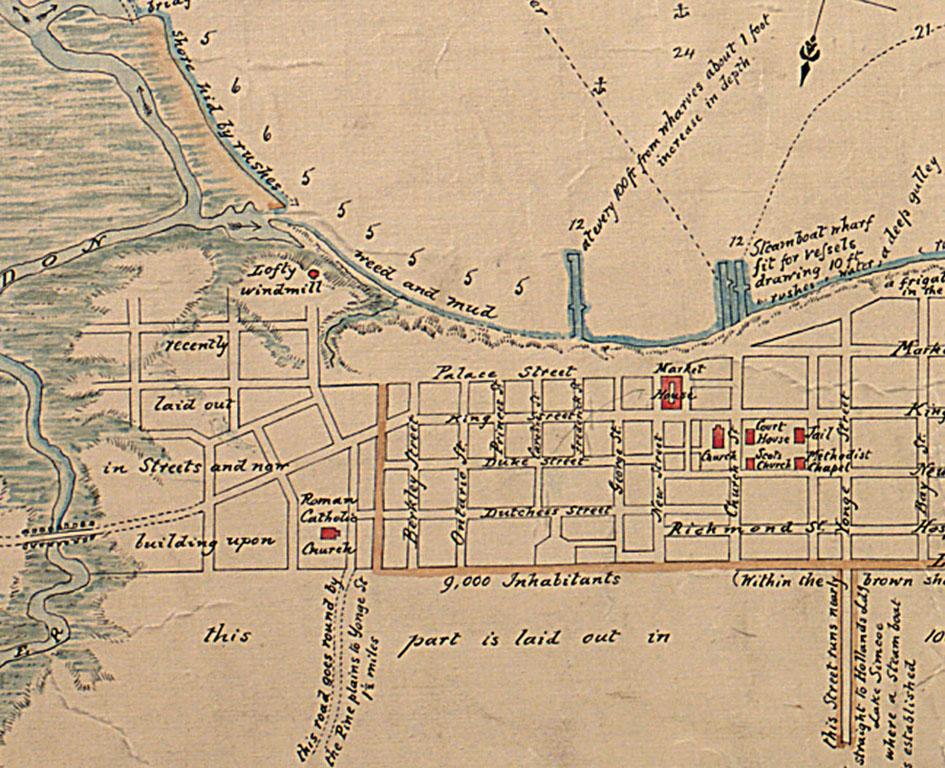 Map Of York Canada.Distillery District Heritage Website
